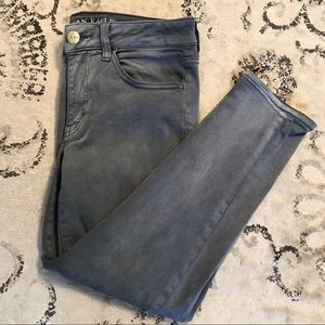 NWOT American Eagle Crop Jegging Jeans - Grey